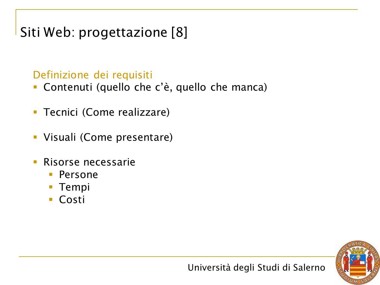 Siti Web: progettazione [8]